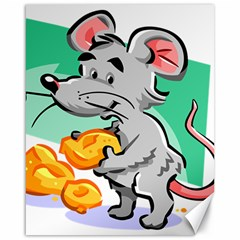 Mouse Cheese Tail Rat Hole Canvas 16  X 20