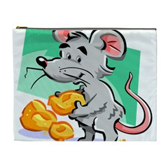 Mouse Cheese Tail Rat Hole Cosmetic Bag (xl)