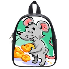 Mouse Cheese Tail Rat Hole School Bag (small)