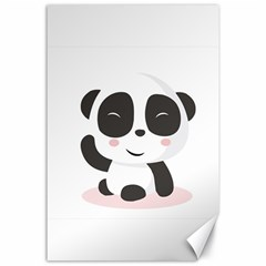 Panda Bear Funny Cute Canvas 24  X 36