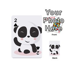 Panda Bear Funny Cute Playing Cards 54 (mini)  by Simbadda