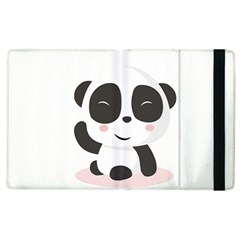 Panda Bear Funny Cute Apple Ipad 2 Flip Case by Simbadda
