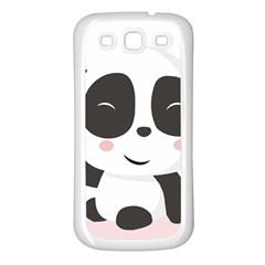 Panda Bear Funny Cute Samsung Galaxy S3 Back Case (white)