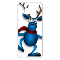 Reindeer Dancing Blue Christmas Samsung Galaxy S8 Plus White Seamless Case