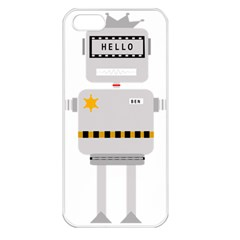 Robot Technology Robotic Animation Apple Iphone 5 Seamless Case (white) by Simbadda