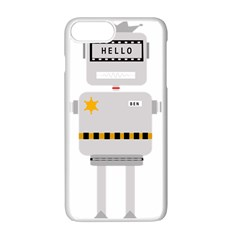 Robot Technology Robotic Animation Apple Iphone 7 Plus Seamless Case (white)