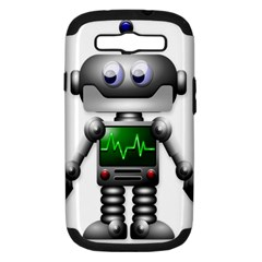 Robot Samsung Galaxy S Iii Hardshell Case (pc+silicone) by Simbadda