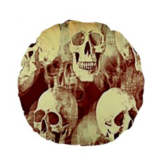 Skullsspooky Bywhacky Standard 15  Premium Flano Round Cushions by bywhacky
