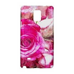 Rose Watercolour Bywhacky Samsung Galaxy Note 4 Hardshell Case by bywhacky