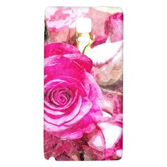 Rose Watercolour Bywhacky Galaxy Note 4 Back Case by bywhacky