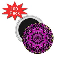 Namaste Decorative Flower Pattern Of Floral 1 75  Magnets (100 Pack)  by pepitasart