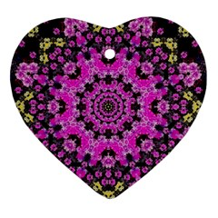 Namaste Decorative Flower Pattern Of Floral Heart Ornament (two Sides) by pepitasart