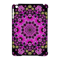 Namaste Decorative Flower Pattern Of Floral Apple Ipad Mini Hardshell Case (compatible With Smart Cover) by pepitasart