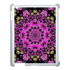 Namaste Decorative Flower Pattern Of Floral Apple Ipad 3/4 Case (white) by pepitasart