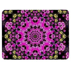 Namaste Decorative Flower Pattern Of Floral Samsung Galaxy Tab 7  P1000 Flip Case by pepitasart