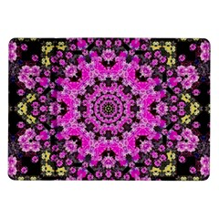 Namaste Decorative Flower Pattern Of Floral Samsung Galaxy Tab 10 1  P7500 Flip Case by pepitasart