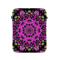 Namaste Decorative Flower Pattern Of Floral Apple Ipad 2/3/4 Protective Soft Cases by pepitasart