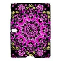 Namaste Decorative Flower Pattern Of Floral Samsung Galaxy Tab S (10 5 ) Hardshell Case  by pepitasart