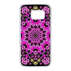 Namaste Decorative Flower Pattern Of Floral Samsung Galaxy S7 White Seamless Case by pepitasart
