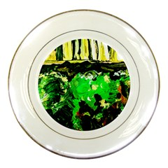 Old Tree And House With An Arch 6 Porcelain Plates by bestdesignintheworld