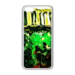 Old Tree And House With An Arch 6 Apple Iphone 5c Seamless Case (white) by bestdesignintheworld