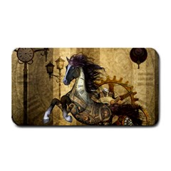 Awesome Steampunk Horse, Clocks And Gears In Golden Colors Medium Bar Mats by FantasyWorld7