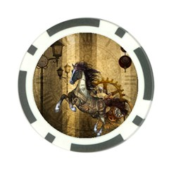 Awesome Steampunk Horse, Clocks And Gears In Golden Colors Poker Chip Card Guard (10 Pack) by FantasyWorld7
