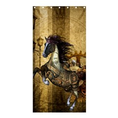 Awesome Steampunk Horse, Clocks And Gears In Golden Colors Shower Curtain 36  X 72  (stall)  by FantasyWorld7