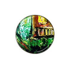 Old Tree And House With An Arch 5 Hat Clip Ball Marker (10 Pack) by bestdesignintheworld