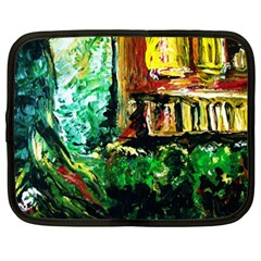 Old Tree And House With An Arch 5 Netbook Case (xxl)  by bestdesignintheworld
