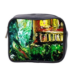 Old Tree And House With An Arch 5 Mini Toiletries Bag 2 Side by bestdesignintheworld