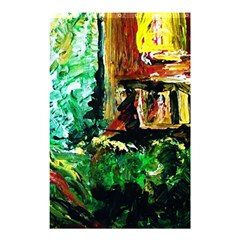 Old Tree And House With An Arch 5 Shower Curtain 48  X 72  (small)  by bestdesignintheworld