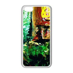 Old Tree And House With An Arch 5 Apple Iphone 5c Seamless Case (white) by bestdesignintheworld