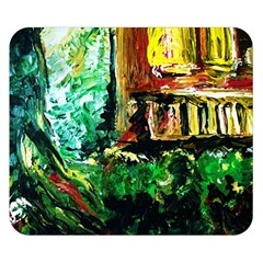 Old Tree And House With An Arch 5 Double Sided Flano Blanket (small)  by bestdesignintheworld