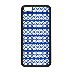 Circles Lines Blue White Apple Iphone 5c Seamless Case (black) by BrightVibesDesign