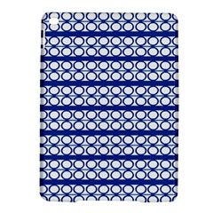 Circles Lines Blue White Pattern  Ipad Air 2 Hardshell Cases by BrightVibesDesign