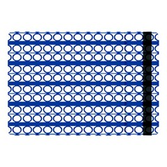 Circles Lines Blue White Pattern  Apple Ipad Pro 10 5   Flip Case by BrightVibesDesign