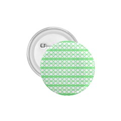 Circles Lines Green White Pattern 1 75  Buttons by BrightVibesDesign