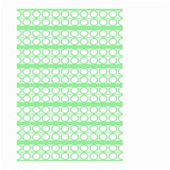 Circles Lines Green White Pattern Small Garden Flag (two Sides) by BrightVibesDesign