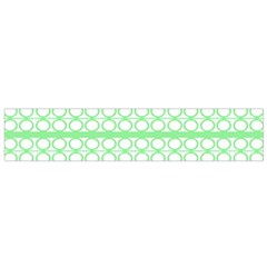 Circles Lines Green White Pattern Flano Scarf (small)  by BrightVibesDesign