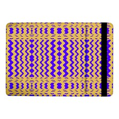 Purple Yellow Wavey Lines Samsung Galaxy Tab Pro 10 1  Flip Case by BrightVibesDesign