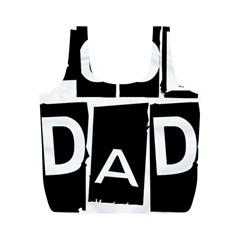 Cool Dad Typography Full Print Recycle Bags (m)  by yoursparklingshop