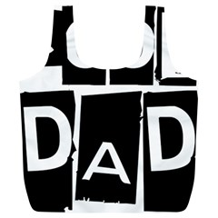 Cool Dad Typography Full Print Recycle Bags (l)  by yoursparklingshop
