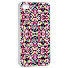 Multicolored Abstract Geometric Pattern Apple Iphone 4/4s Seamless Case (white) by dflcprints