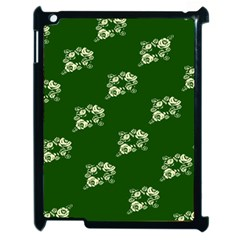 Canal Flowers Cream On Green Bywhacky Apple Ipad 2 Case (black) by bywhacky
