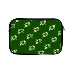 Canal Flowers Cream On Green Bywhacky Apple Ipad Mini Zipper Cases by bywhacky