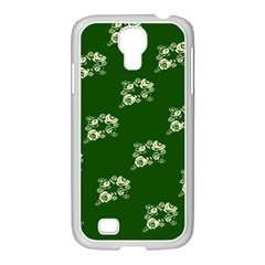 Canal Flowers Cream On Green Bywhacky Samsung Galaxy S4 I9500/ I9505 Case (white) by bywhacky