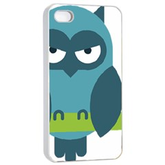 Owl Comic Animal Apple Iphone 4/4s Seamless Case (white)