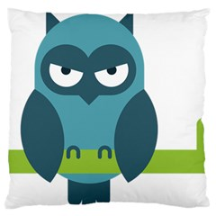 Owl Comic Animal Large Flano Cushion Case (two Sides) by Simbadda