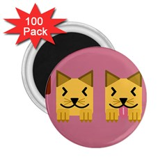 Pet Animal Feline Domestic Animals 2 25  Magnets (100 Pack)